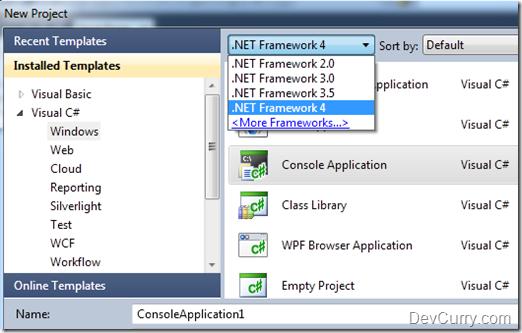 dot net web application framework